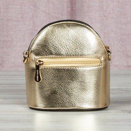 Mała torebka na ramię w kolorze złotym - Torebki