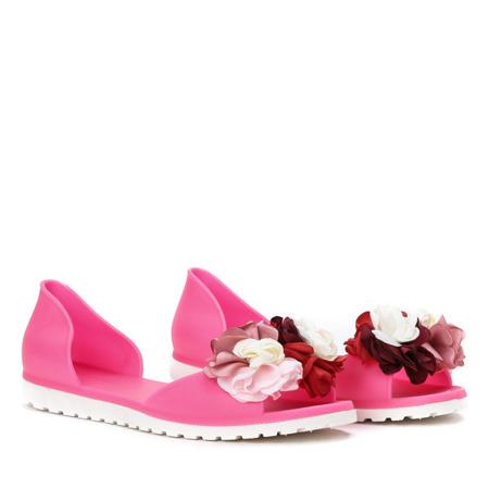 Neonowe różowe meliski z ozdobą Miles - Obuwie