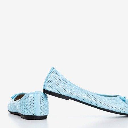 Niebieskie baleriny dziecięce Lavisca - Obuwie