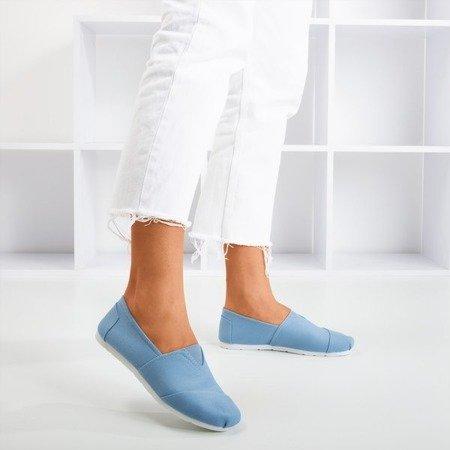 Niebieskie damskie tenisówki slip-on Slavarina - Obuwie