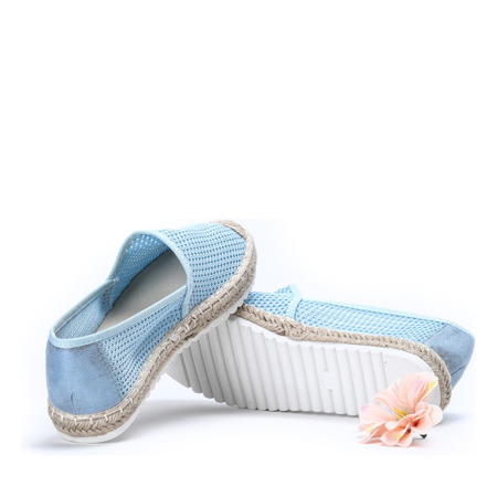 Niebieskie espadryle z siatki Leonie - Obuwie