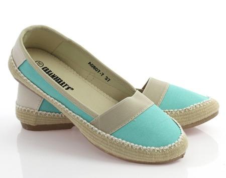 Niebieskie espadryle z tkaniny Noah - Obuwie