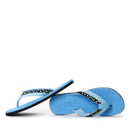 Niebieskie klapki japonki Cheyenne- Obuwie