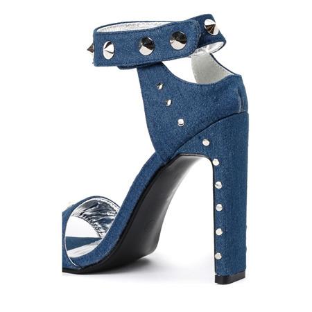 Niebieskie sandały na wysokim słupku Ibbie - Obuwie