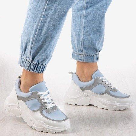 Niebieskie sneakersy damskie z odblaskiem Reflexion - Obuwie