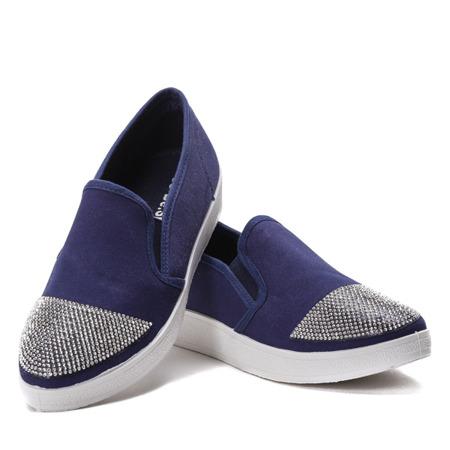 Niebieskie trampki slip-on - Obuwie