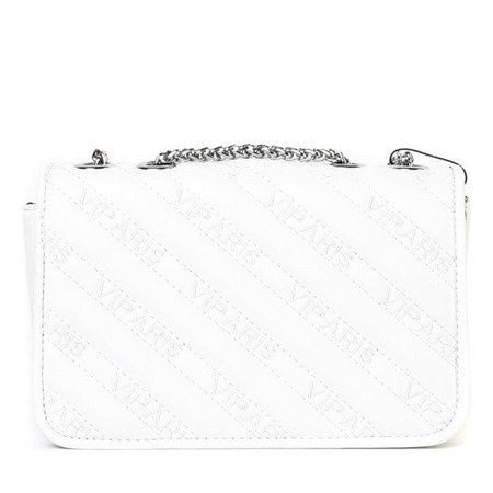 OUTLET Mała pikowana torebka na ramię w kolorze białym - Torebki