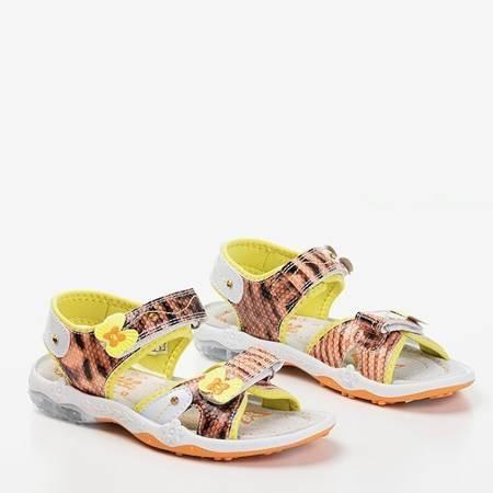 OUTLET Pomarańczowo-żółte sandały dziecięce Jamie - Obuwie