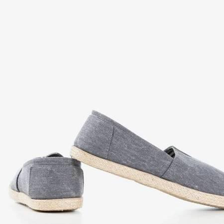 OUTLET Szare materiałowe espadryle  Timsaio - Obuwie