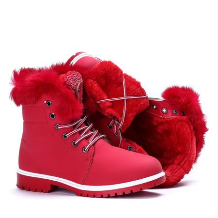 Ocieplane trapery w kolorze czerwonym Sofja - Obuwie