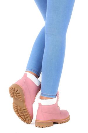 Ocieplane trapery w kolorze różowym Nicolla - Obuwie