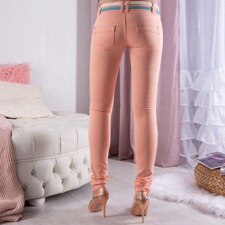 Pomarańczowe spodnie z niskim stanem - Spodnie