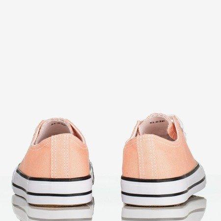 Pomarańczowo - różowe trampki damskie Noenoes - Obuwie