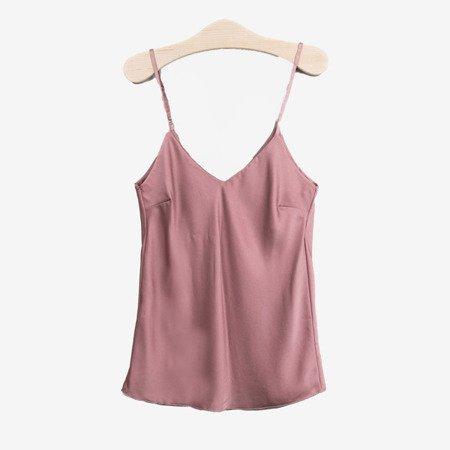 Pudrowa koszulka na ramiączka - Odzież