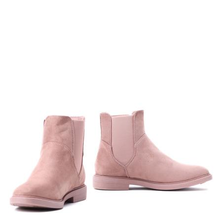 Różowe botki z elastyczną cholewką Modelino - Obuwie