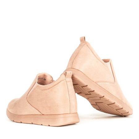 Różowe buty sportowe na koturnie Turno - Obuwie