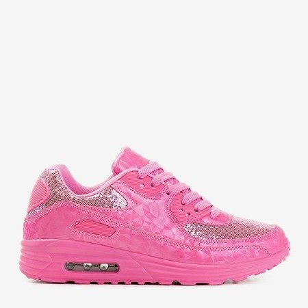 Różowe buty sportowe z brokatem Evanciia - Obuwie