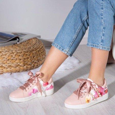 Różowe buty sportowe z ozdoba Balada - Obuwie