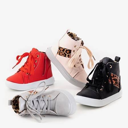Różowe dziecięce sneakersy Pantise - Obuwie