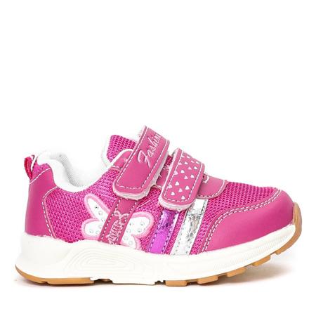 Różowe dziewczęce buty sportowe Fonni - Obuwie
