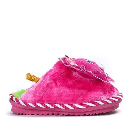 Różowe kapcie futrzane Willie - Obuwie