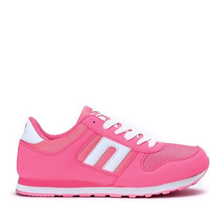 Różowe neonowe buty sportowe Dave - Obuwie