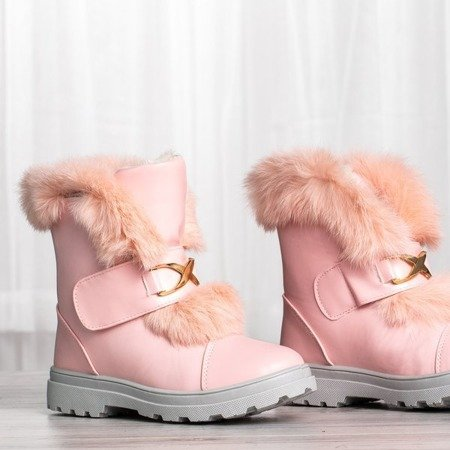 Różowe śniegowce z futerkiem All About You - Obuwie