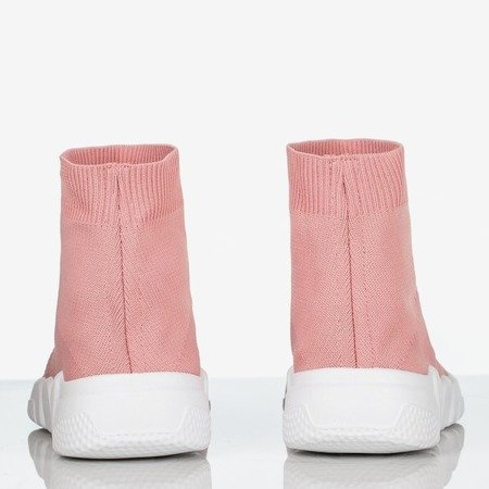 Różowe sportowe buty damskie z cholewką a'la skarpetka Avatia - Obuwie