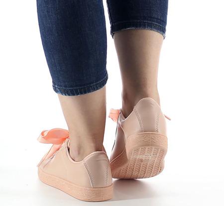 Różowe, sportowe buty z kokardą Maeve  - Obuwie