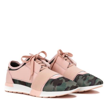 Różowe sportowe buty ze wstawkami moro Jomix - Obuwie