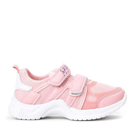 Różowe sportowe dziewczęce buty Kameliane - Obuwie