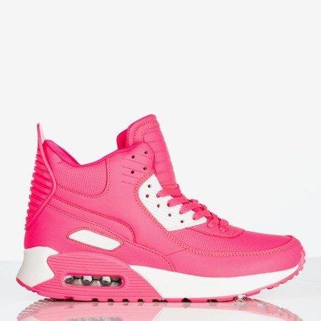 Różowo białe damskie buty sportowe za kostkę Verna Obuwie