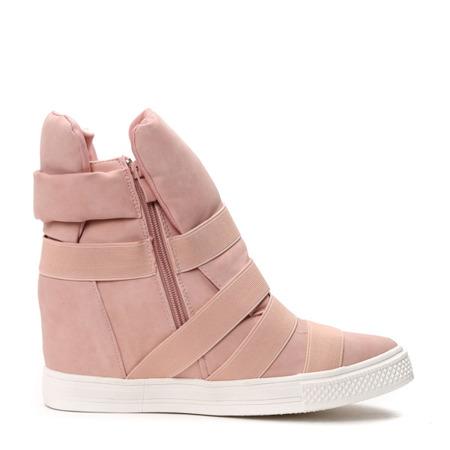 Sneakersy na koturnie w kolorze brzoskwiniowym Genevieve - Obuwie