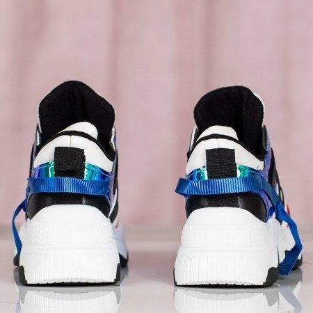 Sportowe buty ugly shoes holograficznymi wstawkami Viridiana - Obuwie