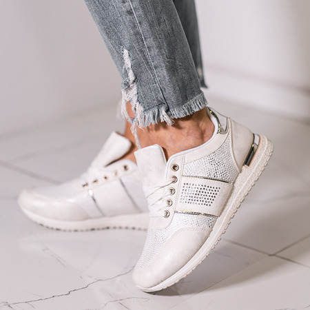 Sportowe buty w kolorze ecru Tamena - Obuwie