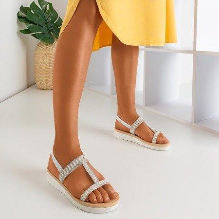 Srebrne sandały z ozdobami Forsola - Obuwie