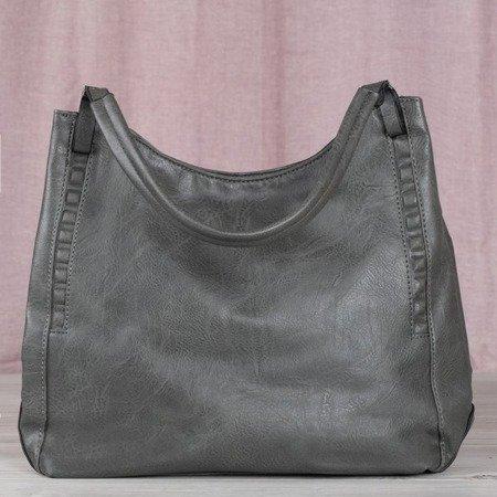 Szara duża torba damska - Torebki
