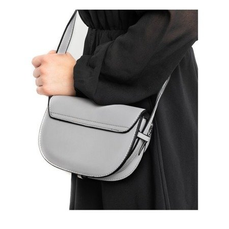 Szara mała torebka na ramię z eko-skóry - Torebki