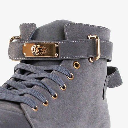 Szare damskie buty sportowe Laridut - Obuwie