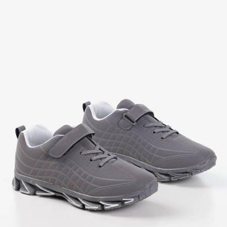 Szare dziecięce sneakersy Fana - Obuwie