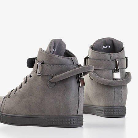 Szare sneakersy ze srebrnymi ozdobami Harli - Obuwie