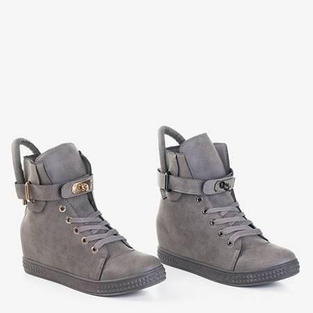 Szare sneakersy ze złotymi ozdobami Kardi - Obuwie