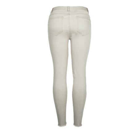 Szare spodnie typu rurki z wysokim stanem - Spodnie