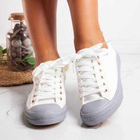 Szaro-białe trampki damskie Nieves - Obuwie