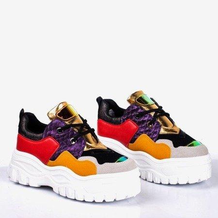 Wielokolorowe sportowe sneakersy damskie Stamford - Obuwie