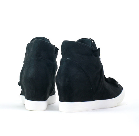 Zamszowe Sneakersy Koturn Susan - Obuwie