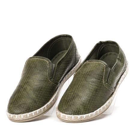 Zielone dziecięce espadryle Monilea - Obuwie