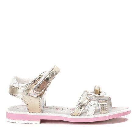 Złote, metaliczne sandały Cami- Obuwie