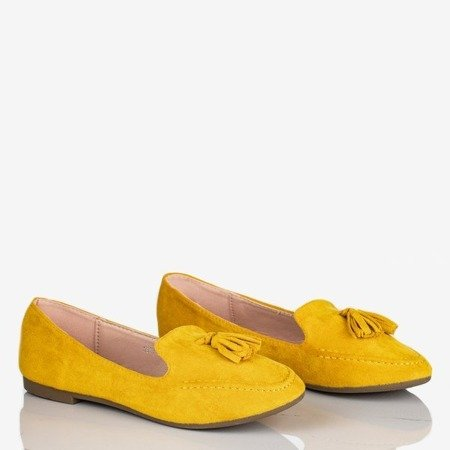 Żółte mokasyny z frędzelkami Jasper - Obuwie