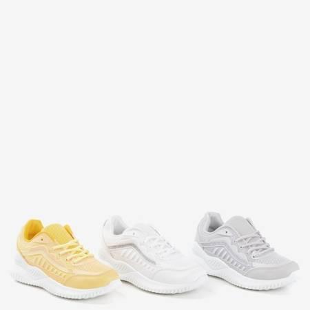 Żółte sportowe buty damskie Aksu- Obuwie